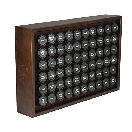 AllSpice Wooden Spice Rack, Includes 60 4oz Jars- Walnut by AllSpice (Image #7)