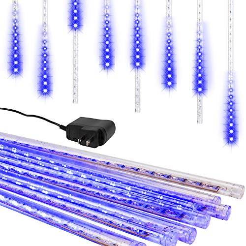 Light Blue Led Icicle Lights in US - 4