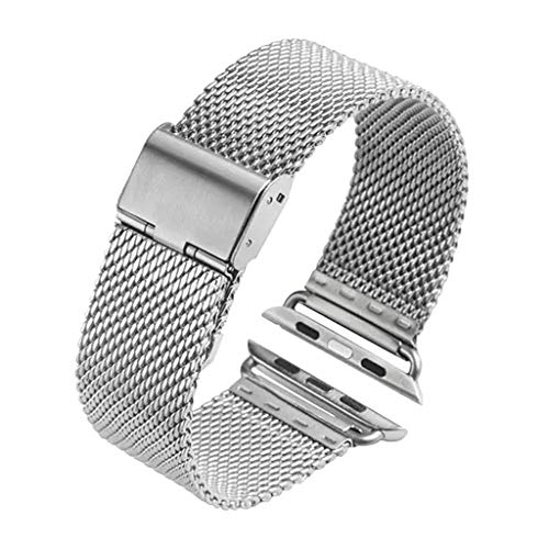Price comparison product image BIYATE Compatible with Apple Watch Band 38mm 40mm, Stainless Steel Milanese Loop Metal Replacement iWatch Band Strap Bracelet Compatible for Apple Watch Series 4 Series 3 Series 2 Series 1