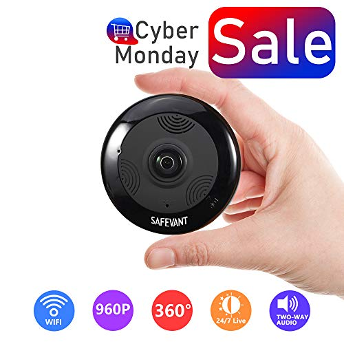 Wireless Security Camera, SAFEVANT HD Multifunctional Fisheye Panoramic Camera 360 Degree WiFi IP Camera with Two Way Audio Night Visionand 3D View For Sale