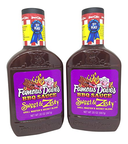 Famous Dave's BBQ Sauce, Sweet and Zesty Grill Master's Secret Blend, 20 Ounces (Pack of 2) (Sweet Barbecue Sauce)