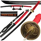 Japanese Blood Red Bio-Hazard Zombie Slayer 1045 High Carbon Steel Full Tang Katana Sword