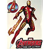 "Iron-Man Mini FATHEAD Marvel Avengers Superhero Official Vinyl Wall Graphics 6"" INCH"