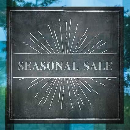 5-Pack CGSignLab Chalk Burst Window Cling 16x16 Seasonal Sale