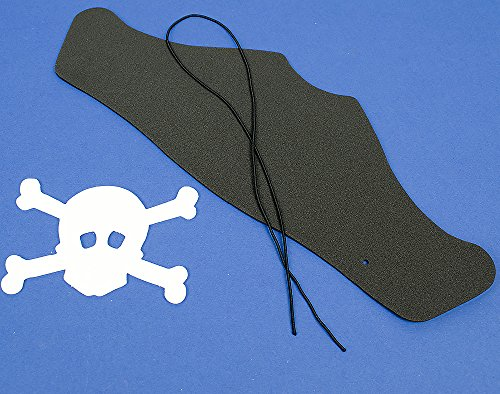 Bespoke by Crafty Capers Single Black Foam Pirate Hat for Kids Crafts   Skull & Crossbones ()