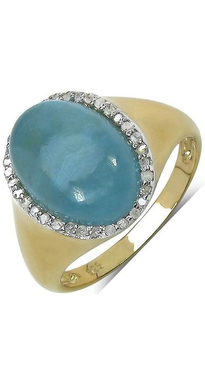 Goldancé – Women's Ring – 925 Sterling Silver, Gold Plated – Genuine Gemstone: Aquamarine – R7961AQ-GP