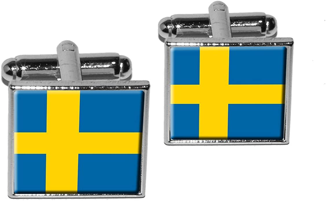 High Quality Sweden Flag Cufflinks