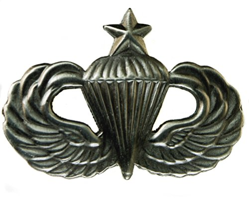 Senior Paratrooper pewter plated cutout 1 1/4 inch Hat or Lapel Pin - Paratrooper Army Hat Pins