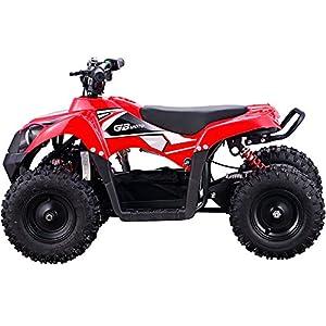 MotoTec 36v 500w ATV Monster v6 Blue Kids Children 36V Mini Quad ATV Dirt Motor Bike Electric Battery Powered, 5 Colors (Red)