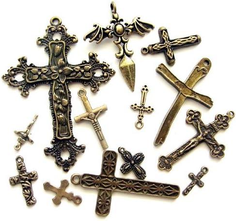 十字架チャームセット AG 10種以上20個入