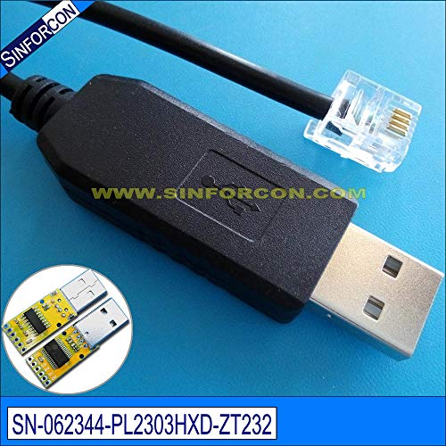 (Computer Cables Android USB Host pl2303hxd USB rs232 to rj11 rj12 rj25 rj45 Serial Cable - (Cable Length: 180cm, Color: 4 Wires end Cable))