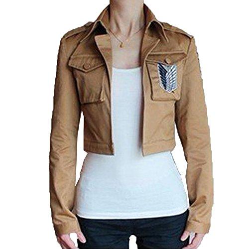 Rulercosplay Attack on Titan Scouting Legion Khaki Cosplay Custom Jacket