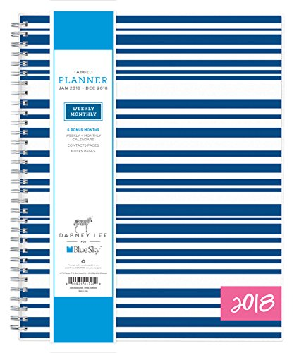 "Dabney Lee for Blue Sky 2018 Weekly & Monthly Planner, Twin-Wire Binding, 8.5"" x 11"", Block Island -  Blue Sky the Color of Imagination, LLC, 101728"