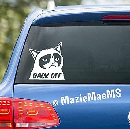 Amazon Com Celycasy Back Off Grumpy Cat Custom Car Window