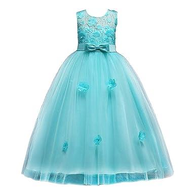 Zhhlinyuan Vestido de Princesa para niñas - Niñas Vestidos ...