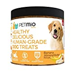 Petmio Bites – Human Grade Dog Treats, Banana Almond Butter Pumpkin Recipe, Certified Non-Gmo, Gluten Free, Grain Free, All Natural, And Made In The Us For Sale