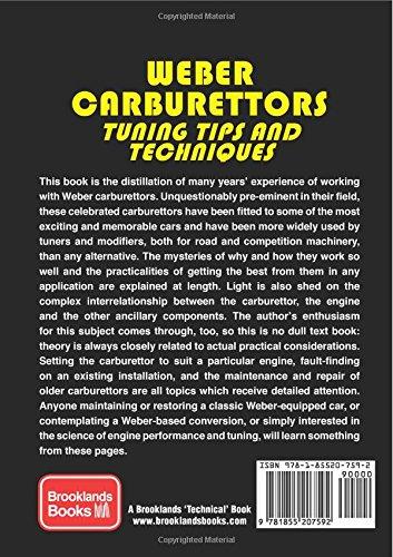 weber carburetors tuning tips techniques john passini rh amazon com