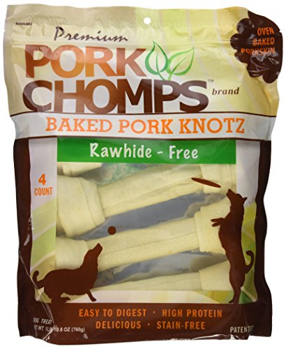 Scott Pet Products 4 Count Pork Chomps Baked Knotz Treat, 1 Lb 10.8 Oz