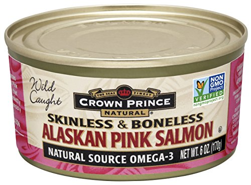 - Crown Prince Natural Skinless & Boneless Alaskan Pink Salmon, 6-Ounce Cans (Pack of 12)