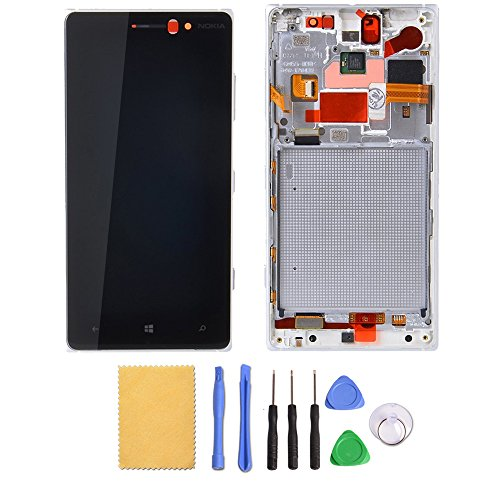 Greleaves LCD Digitizer Assembly with Frame - Touch Screen Glass Panel+LCD Display Panel Replacement with Tools for Nokia Lumia 830