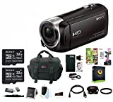 Sony 1080p Full HD 60p Handycam Camcorder with Focus Accessory Kit & 32GB Bundle