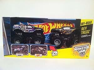 Amazon Com Hot Wheels Monster Jam 2 Pack Rev Tredz Grave