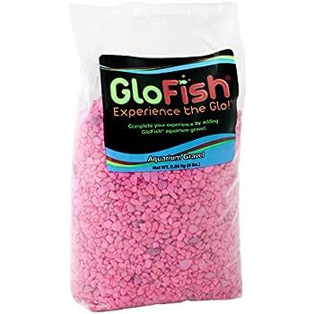 GloFish Aquarium Gravel, Pink Fluorescent, 5-Pound Bag