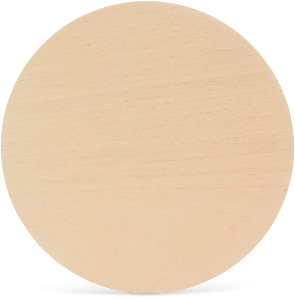 Wood Plywood Circles 12 inch, 1/4 Inch Thick, Round Wood Cutouts, Pack of 5 Baltic Birch Unfinished Wood Plywood Circles for Crafts, by Woodpeckers