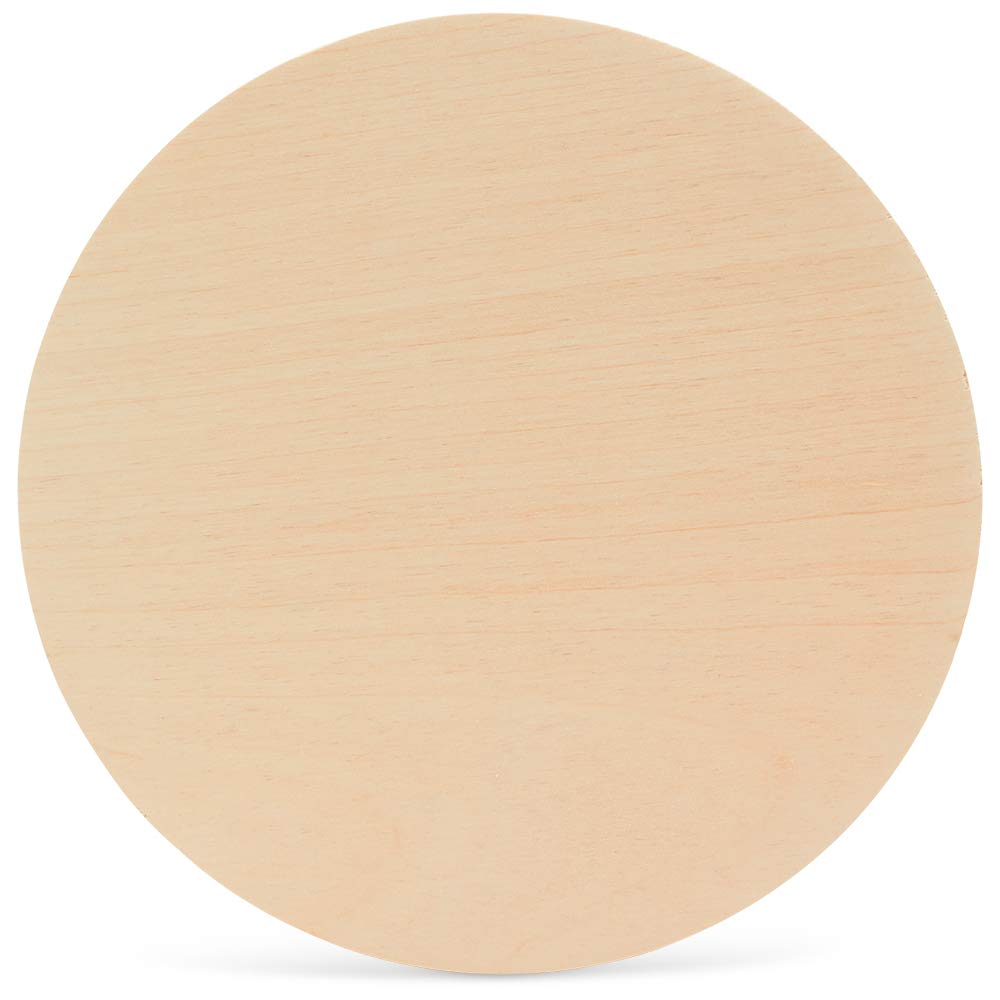 12 Inch Wooden Circles 1/4 Inch Thick, Package of 25, Unfinished Baltic Birch Wood by Woodpeckers