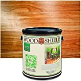 ECOS Paints 00817292022647 WoodShield Interior Gloss, 1 Gallon Wood Varnish, Clear