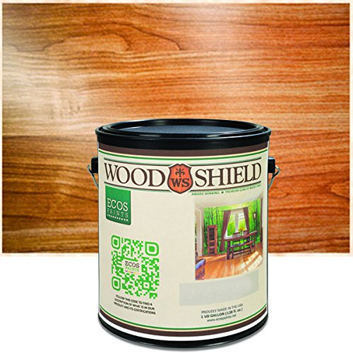 Interior Gloss Varnish (ECOS Paints 00817292022685 Woodshield Interior Gloss Wood Varnish, 1 quart, Clear)