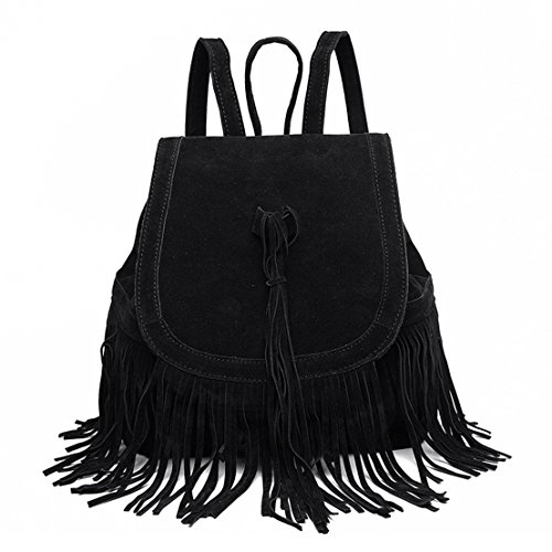 Big Save! Sunwel Fashion Bag Shoulder Tassel Drawstring PU Leather Bag Casual Traveling Women Outdoo...