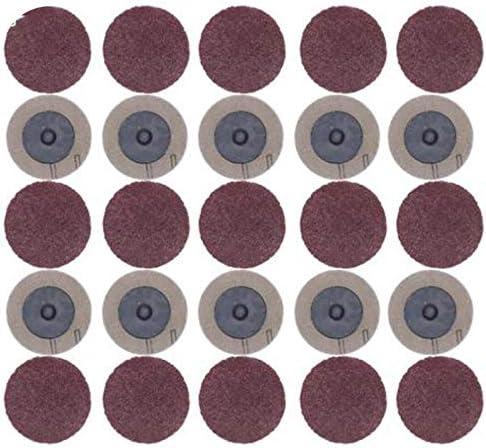 ACAMPTAR サンディングディスク 100個 Roloc 50Mm 40 60 80 120グリットサンダー紙ディスク研削砥石研磨ロータリーツールアクセサリー