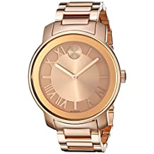 Movado 3600199 Women's Bold Wrist Watch, Gold Dial