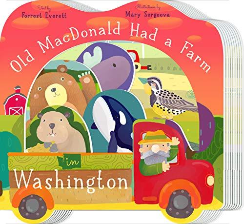 Crescent Mount Board - Old MacDonald Had a Farm in Washington (Old Macdonald Had a Farm Regional Board Books)
