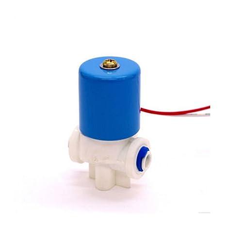 Alta calidad 2 way plástico dispensador de agua Micro válvula solenoide 1/4 de tubo
