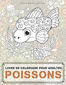 Poissons Livre De Coloriage Pour Adultes Amazon Co Uk Lambert Elsa 9798644250448 Books