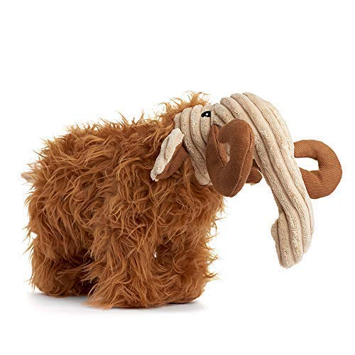 (Rocco & Roxie Plush Squeak Toy for Dogs - Cute Dinosaur Shapes (Choose Brontosaurus, Triceratops, or T-Rex) (Woolly Mammoth) )