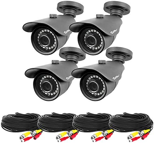 Best Vision 4 Pack High Definition Security Camera – 4pcs 1080P AHD Outdoor Indoor Night Vision Bullet Cameras – 3.6mm