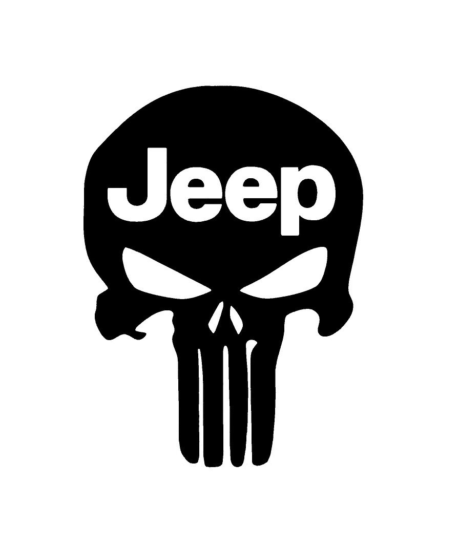 Amazon com ur impressions blk punisher skull jeep decal vinyl sticker cars trucks walls laptopblack7 5 x 5 4 inchuri083 automotive