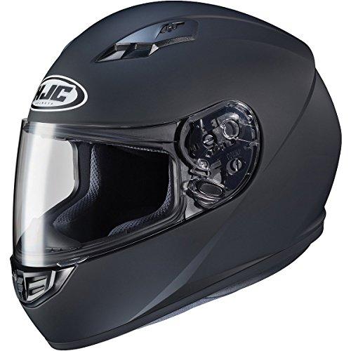 HJC Solid Adult CS-R3 Street Motorcycle Helmet - Matte Black/Large