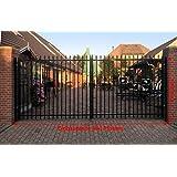 Portone d' ingresso porta Nero Porta portone doppio industria Tor cancello da giardino 400cm x 180cm