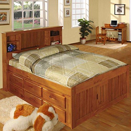 American Furniture Classics 2121-BCH Bookcase Bed, Full - Full Size Pedestal