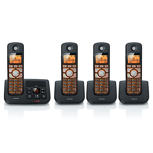 Motorola DECT 6.0 Cordless Digital Home Phone with 4 Handsets, Caller ID and Answering System K704B - (Motorola Telephone)