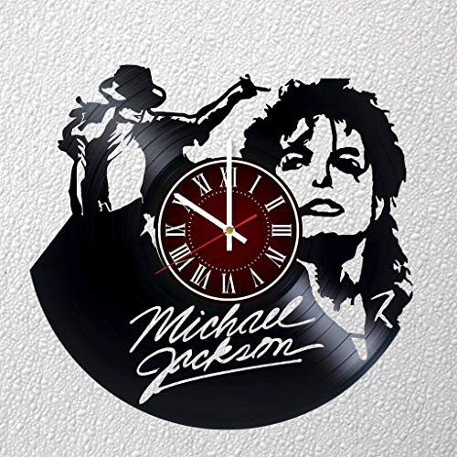 MICHAEL JACKSON 12 inches / 30 cm Vinyl Record Wall Clock | Music Gift | Birthday Party Gift | Family Gift | Billie Jean | Smooth Criminal