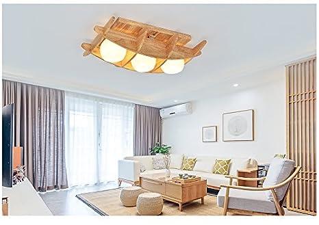 Fufu illuminazione per interni led di legno solido moderna