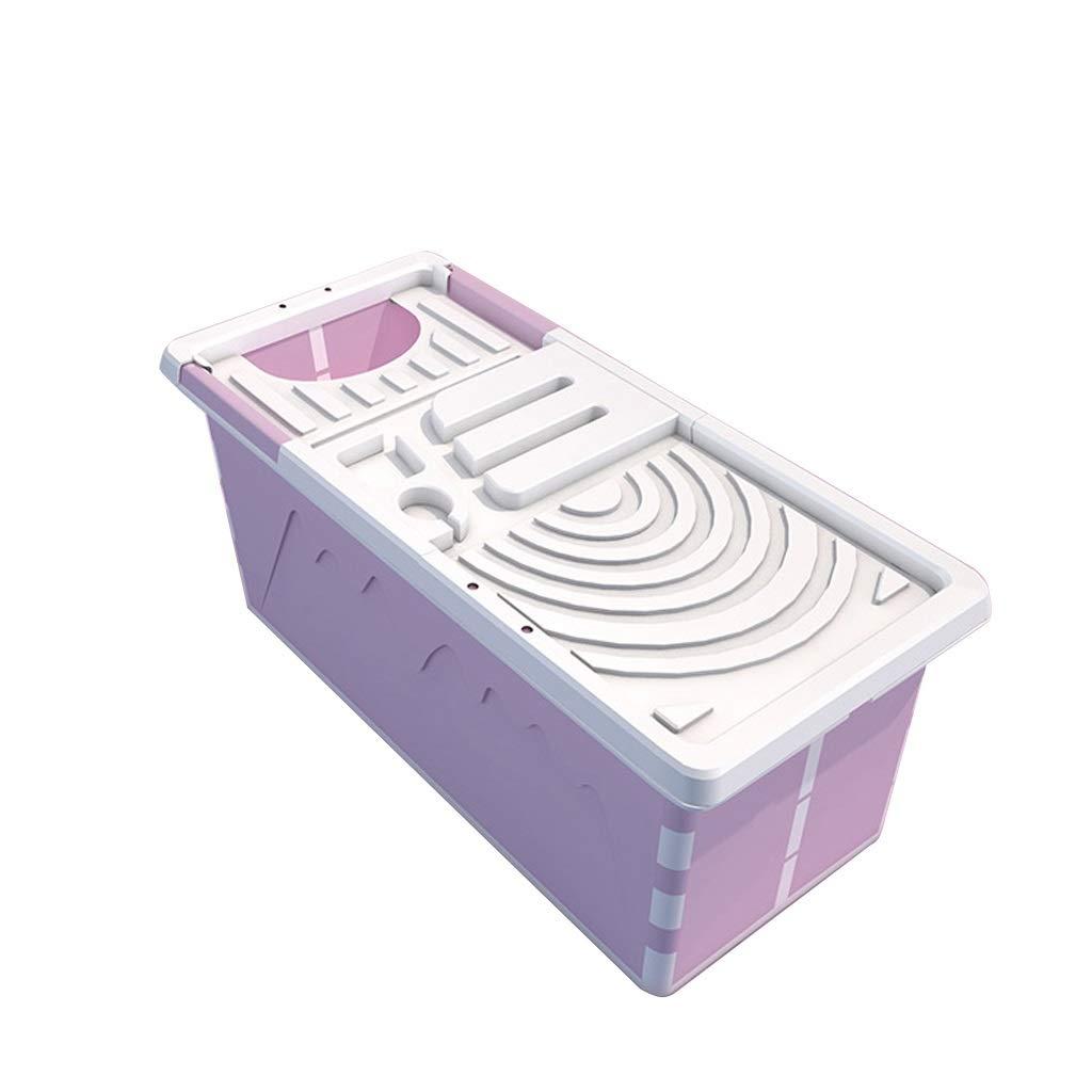 Bathtub CYLQ Folding Plastic Bath Barrel Newborns Household, Large Foldable Bathtub Infants Kids Aged 0-6 Years Old,Portable Baby Swimming Pool 1204353cm (Color : Pink) by Bathtub CYLQ