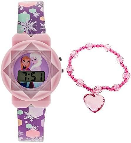 Disney Frozen LCD Watch and Bracelet Gift Set in Tin