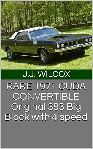 RARE 1971 CUDA CONVERTIBLE Original 383 Big Block with 4 speed