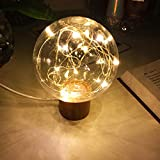 Romantic Soft Light, Star Night Lamp with USB Power Cable, LED Mood Light for Home Decor - Living Room & Bedroom, Festival Gifts - Christmas Gifts, with Wooden Base